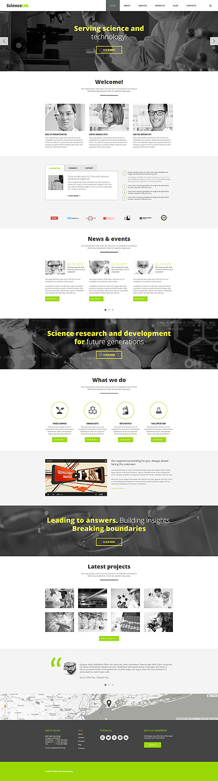 Joomla Theme/Template 55285 Main Page Screenshot