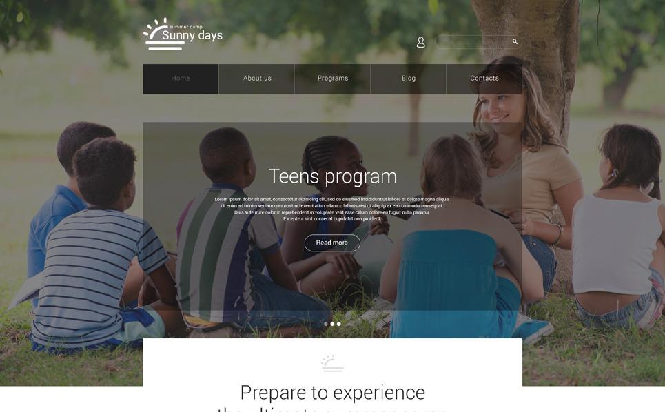 Template Joomla Flexível para Sites de Acampamento de Verão №55287 New Screenshots BIG