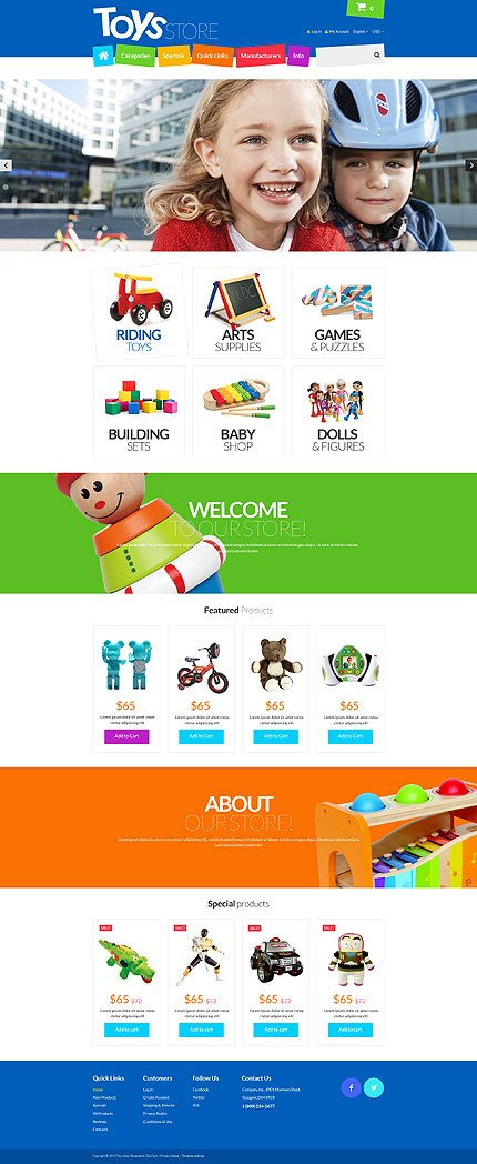 ZenCart Template 55288 Main Page Screenshot