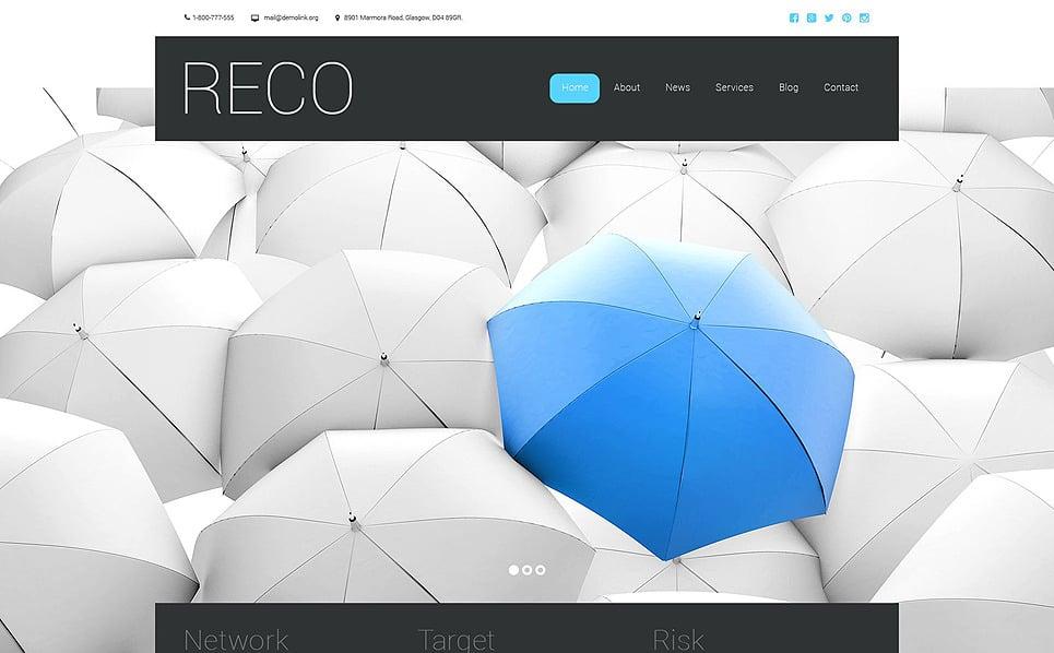Responsive Website template over Business & Diensten New Screenshots BIG
