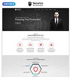Security Website  Template 55293
