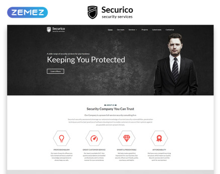 Securico Website Template
