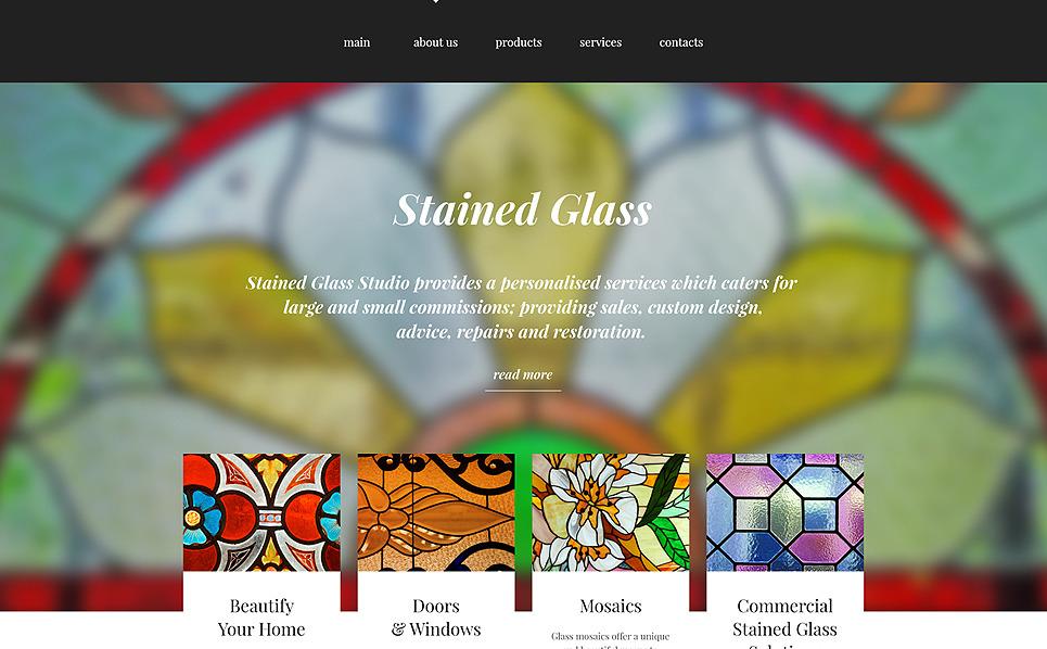 Responsive Website template over Woning Decoratie New Screenshots BIG