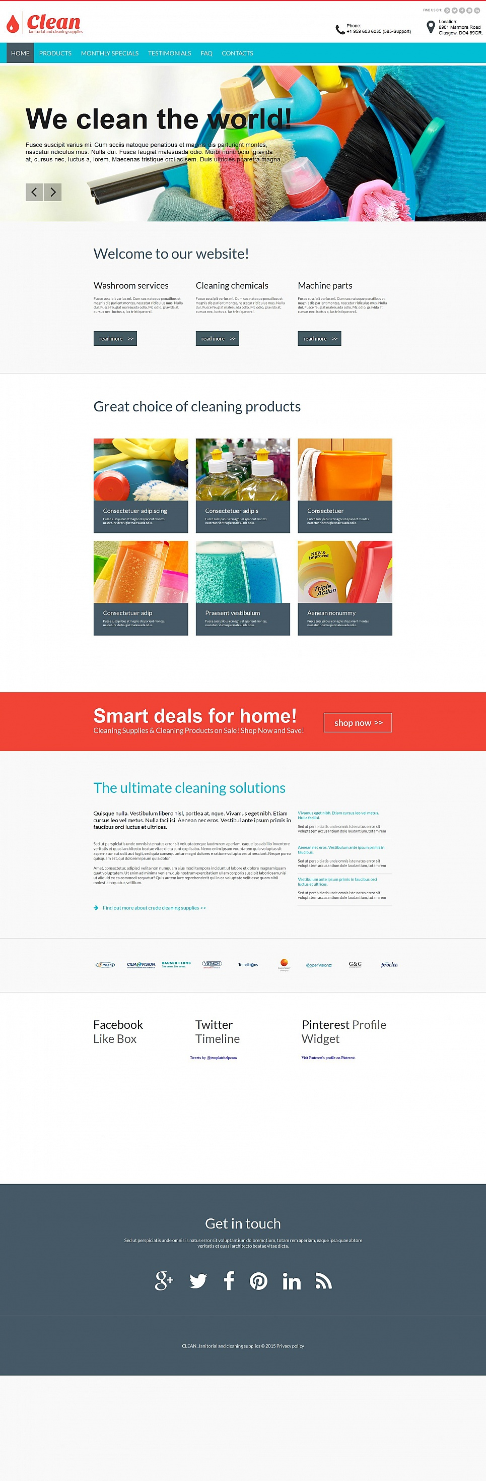 Clean HTML Website Template - image