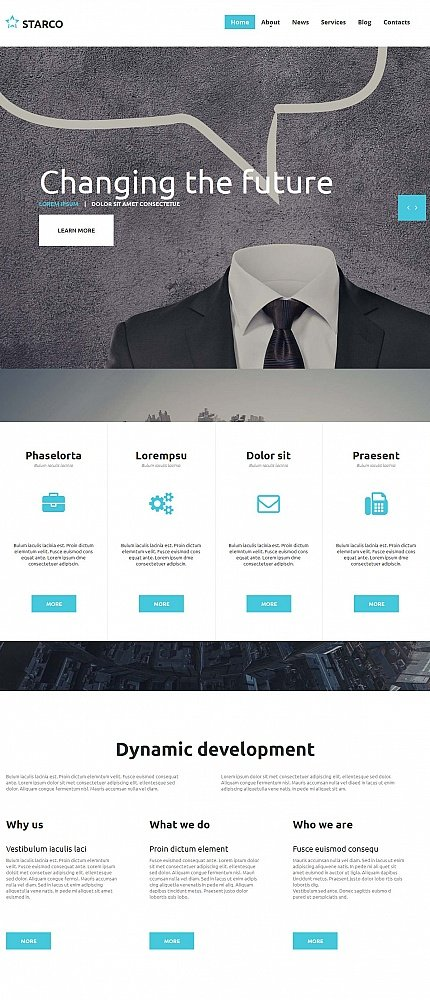 ADOBE Photoshop Template 55299 Home Page Screenshot
