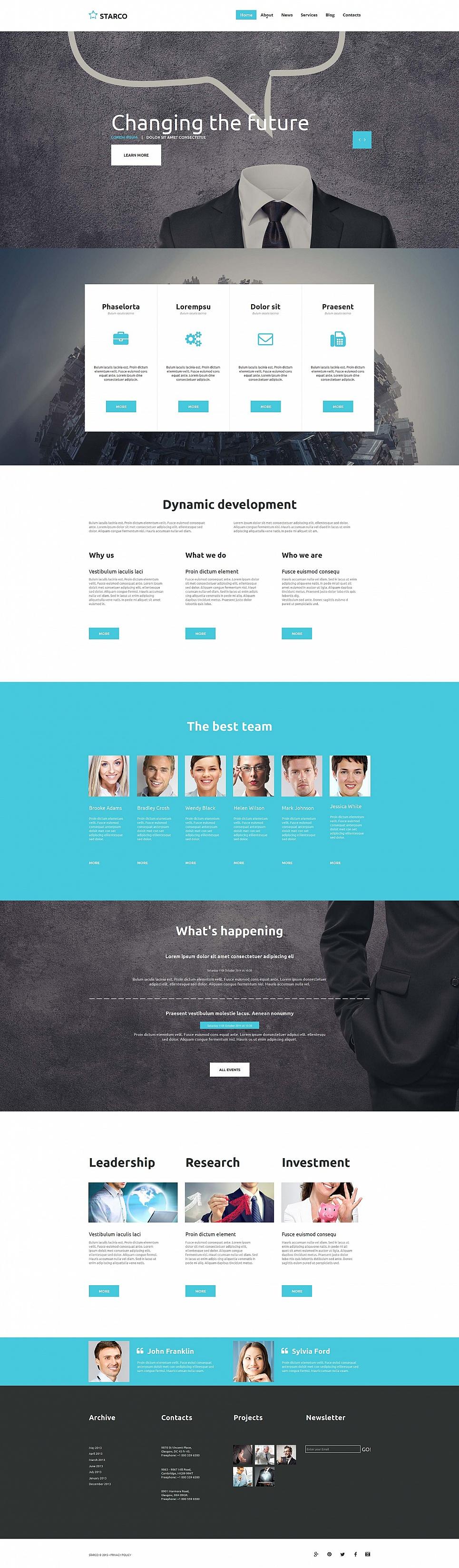 Fast working website for businessmen