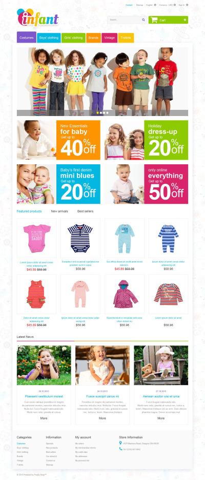 Адаптивний PrestaShop шаблон на тему дитячий магазин #55246