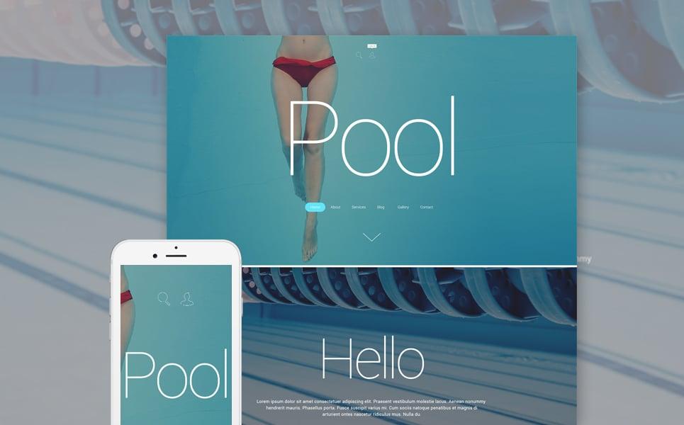 Адаптивный шаблон сайта на тему плавательный бассейн #55279