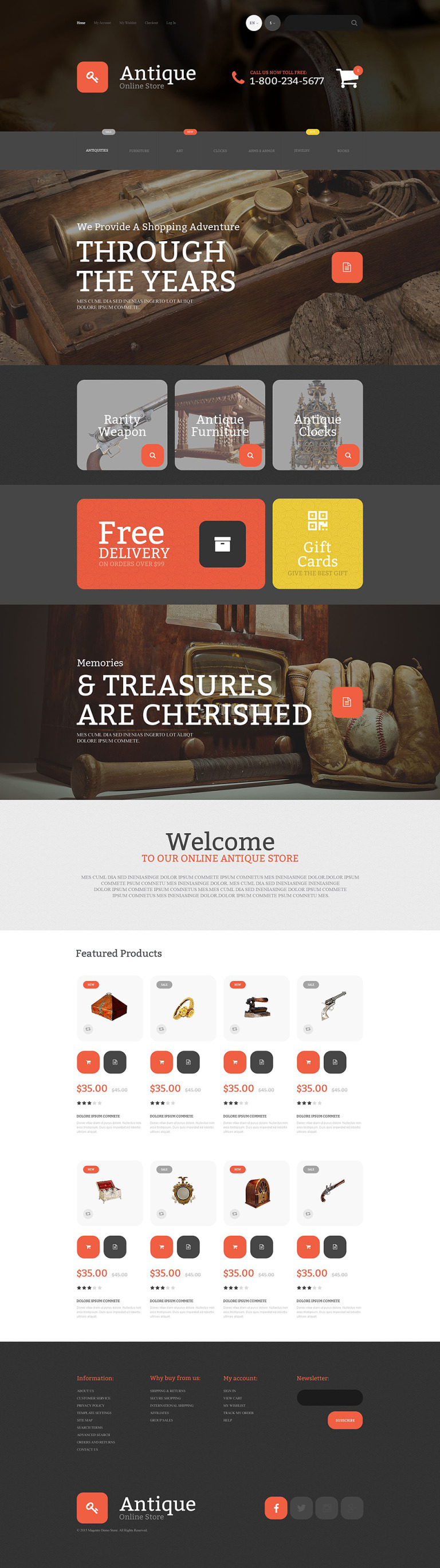 Antique Magento Theme New Screenshots BIG