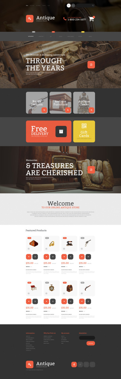 Antique Magento Theme