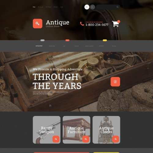Antique - Magento Template based on Bootstrap