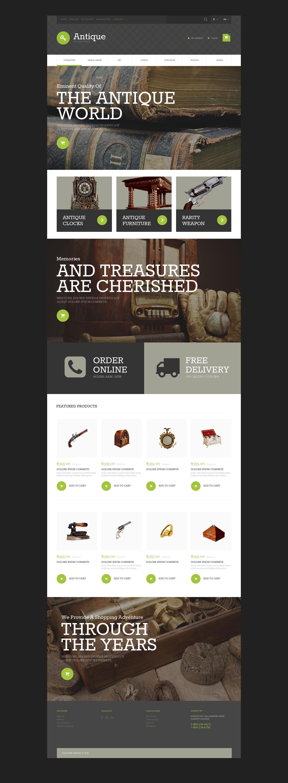 Antique Store OsCommerce Template - screenshot