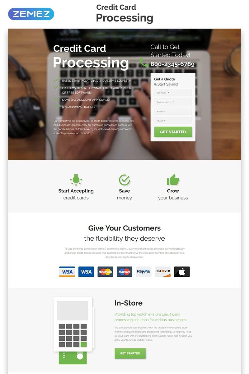 Bank Responsive Landing Page Template #55254