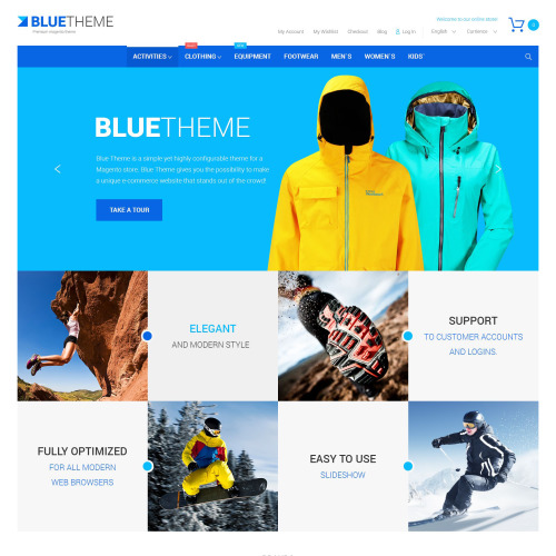 Blue Theme - Magento Template based on Bootstrap