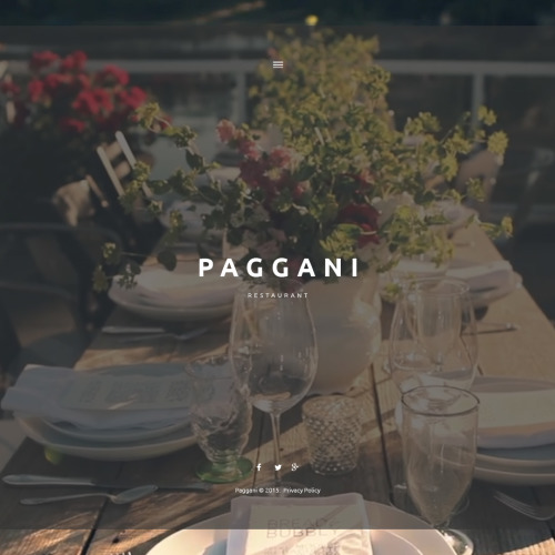 Paggani - WordPress Template based on Bootstrap