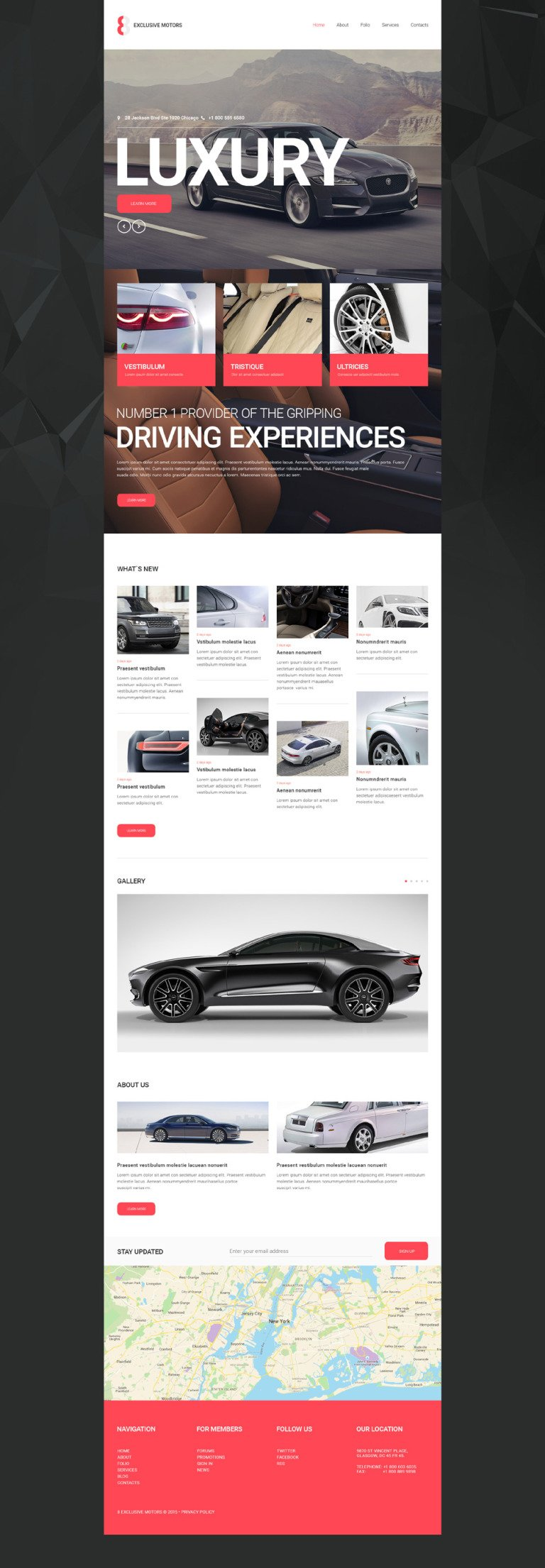 Car Club Responsive Website Template New Screenshots BIG