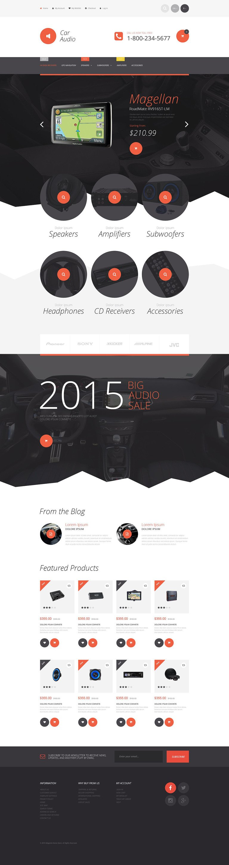 Car Stereo Magento Theme New Screenshots BIG