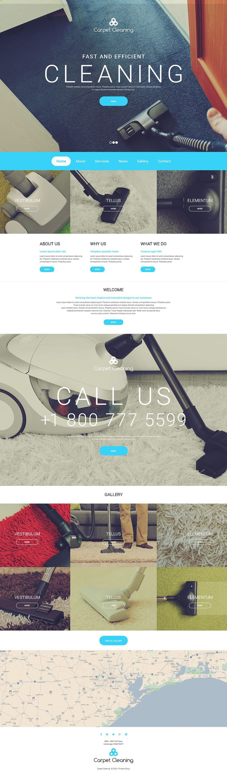 Carpet Cleaning Website Template New Screenshots BIG