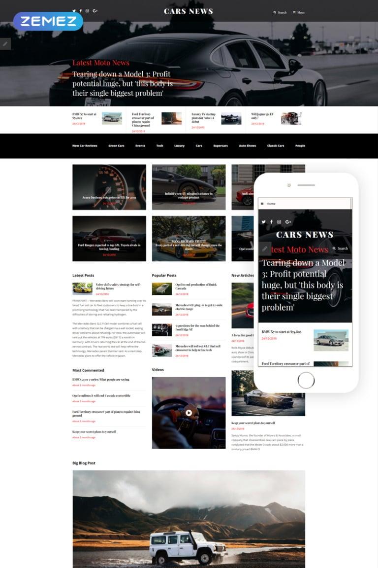 Cars News Joomla Template New Screenshots BIG