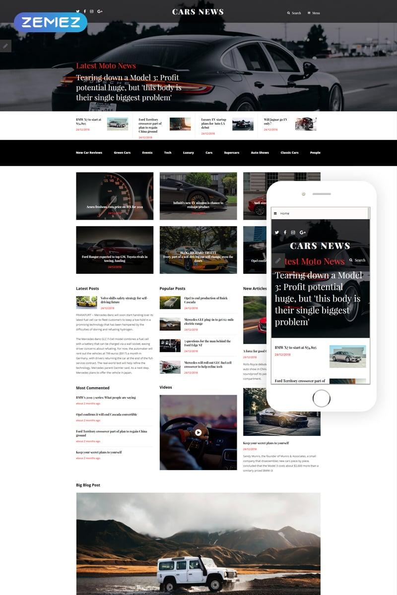 """Cars News"" 响应式Joomla模板 #55269"