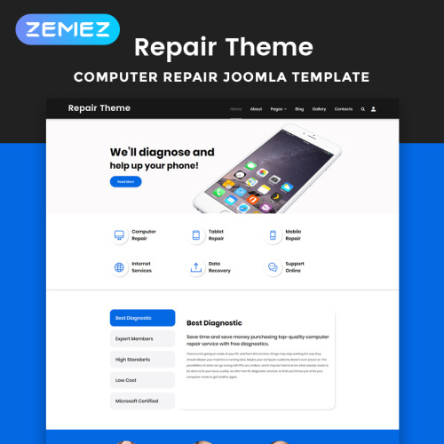 Repair Theme - Joomla! Template based on Bootstrap