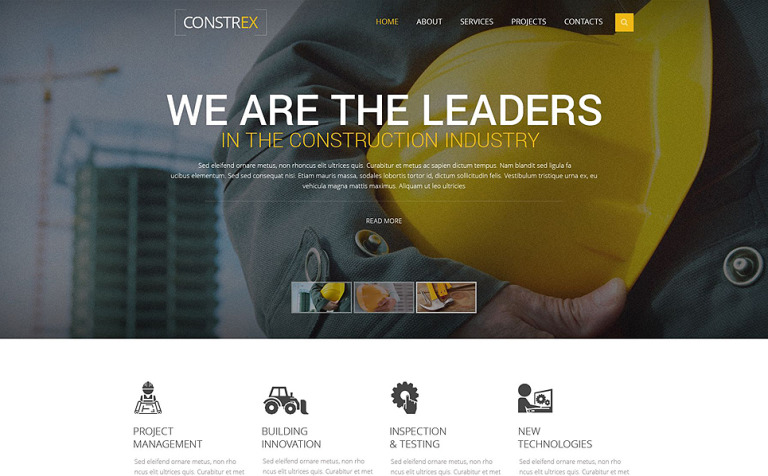 Constrex Website Template