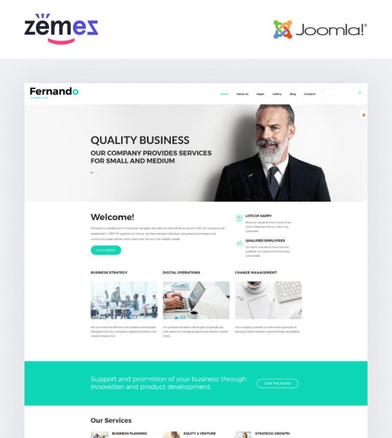 Corporate Consulting Joomla Template