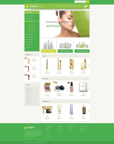 Cosmetics Store Responsive VirtueMart Template #55215