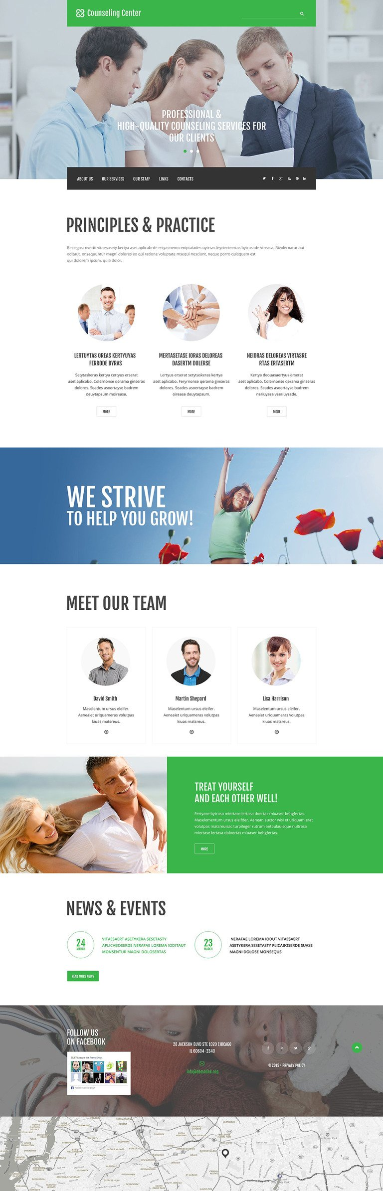 Counseling Center Website Template New Screenshots BIG