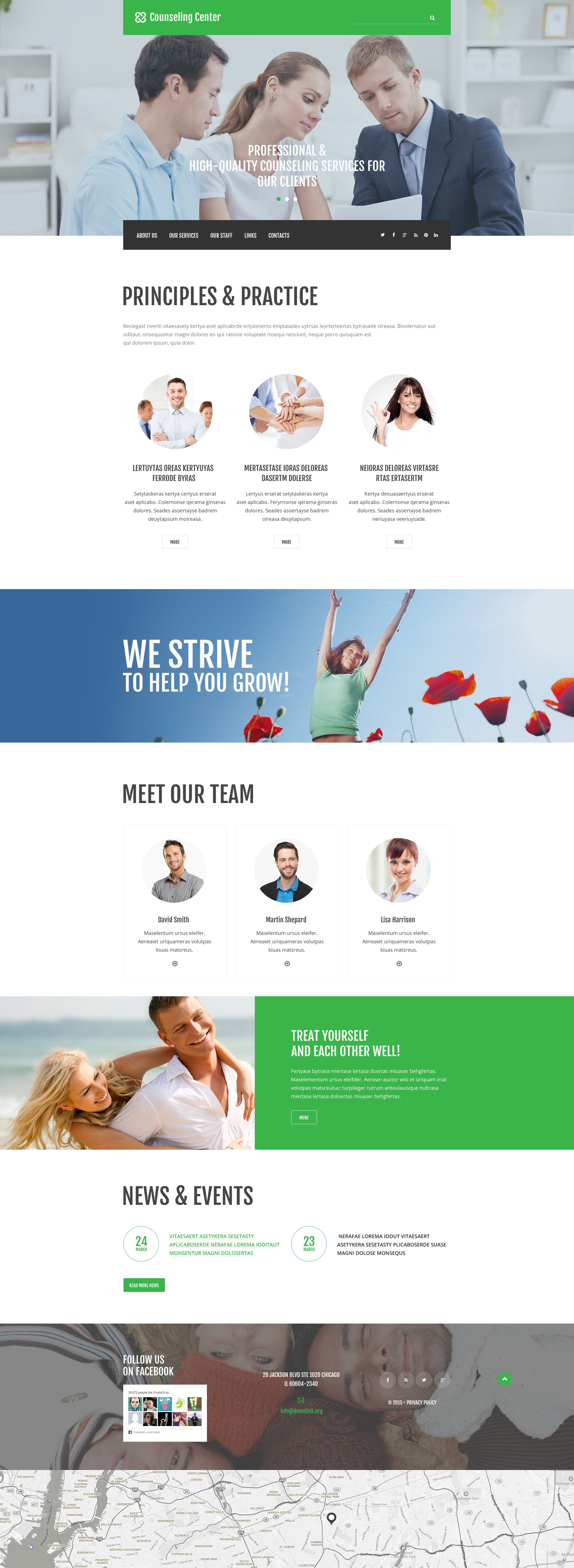 Counseling Center Website Template