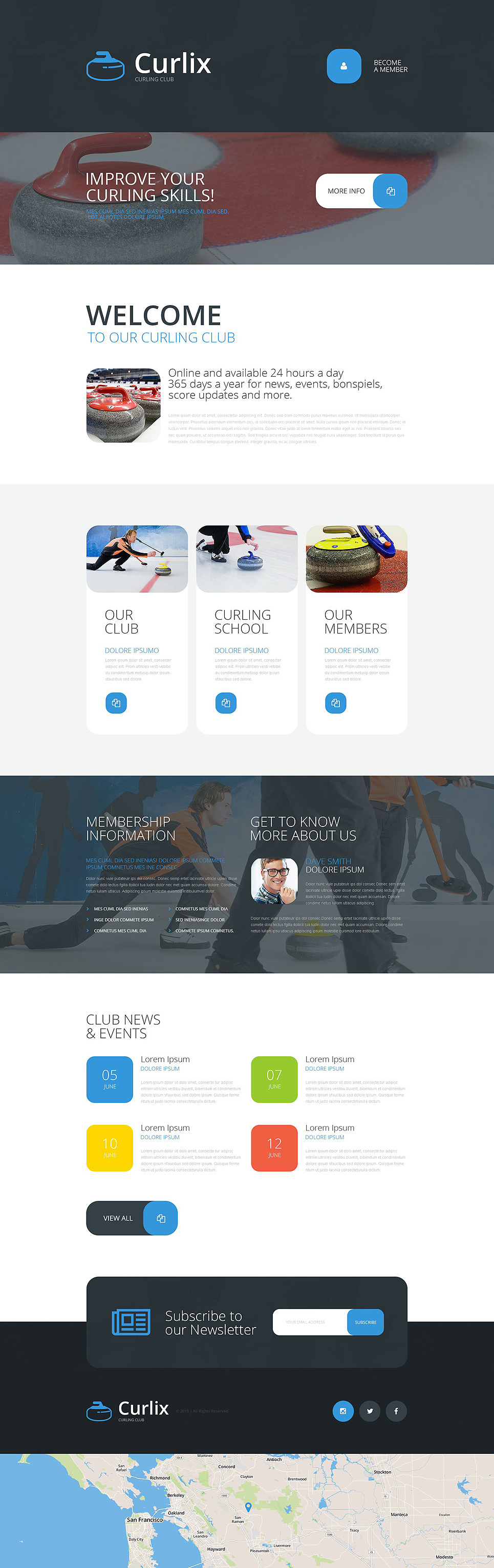 Curling Responsive Landing Page Template New Screenshots BIG
