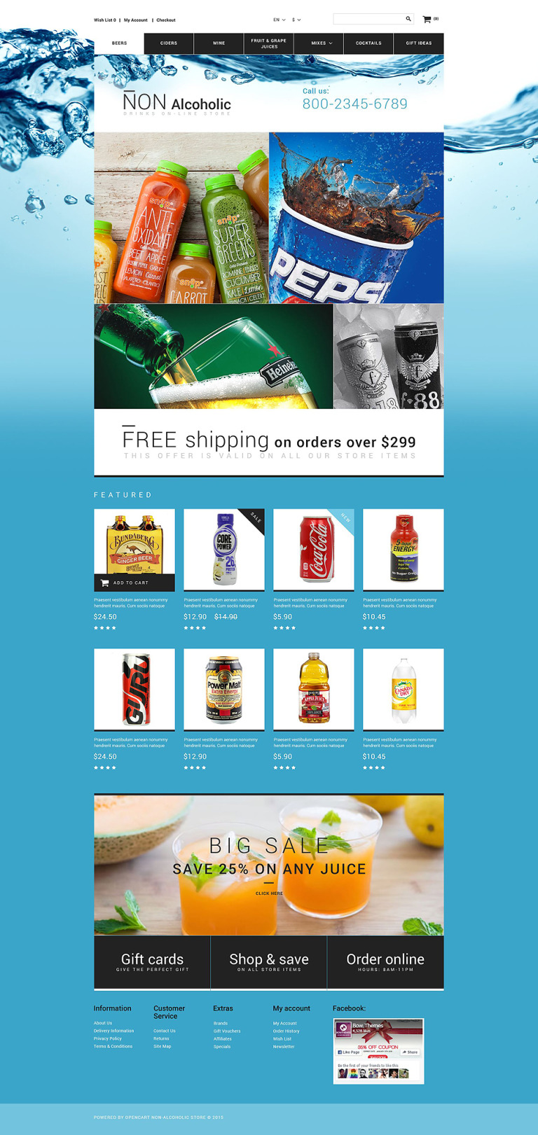 Drink Store OpenCart Template New Screenshots BIG
