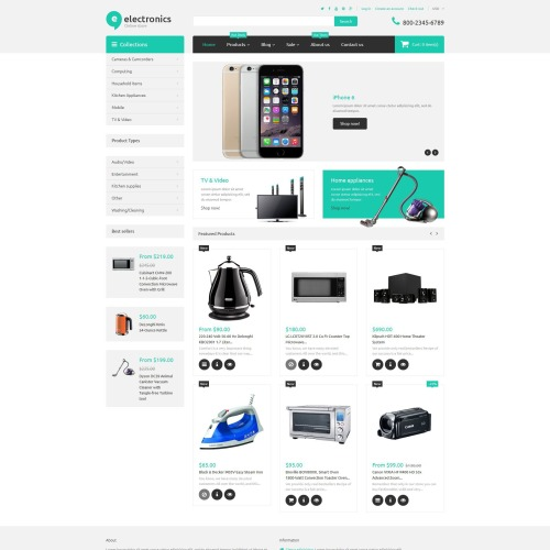 Electronics  - Shopify Template based on Bootstrap