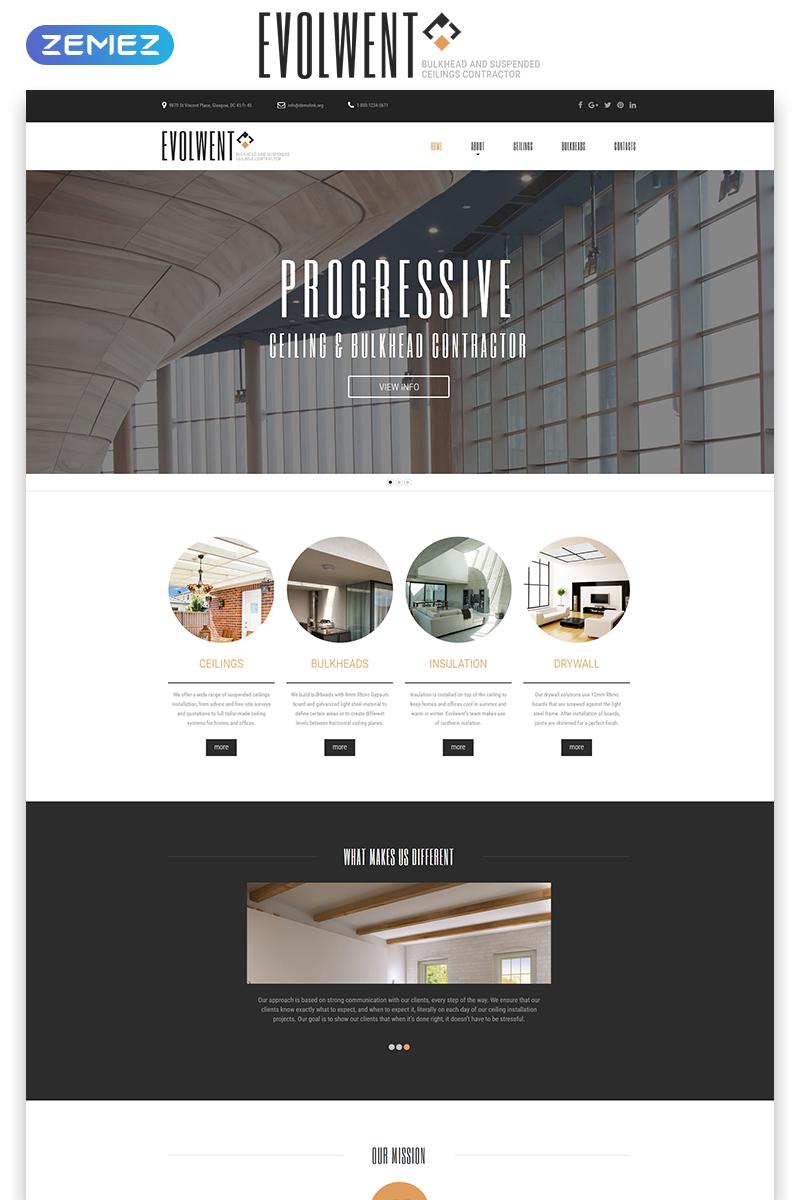 """Evolwent - Interior Design Responsive Modern HTML"" modèle web adaptatif #55224"