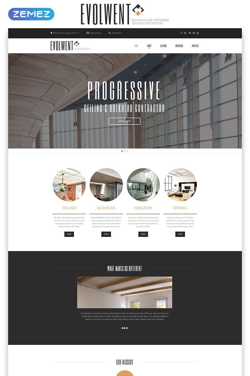Bon Evolwent   Interior Design Responsive Modern HTML Website Template Big  Screenshot