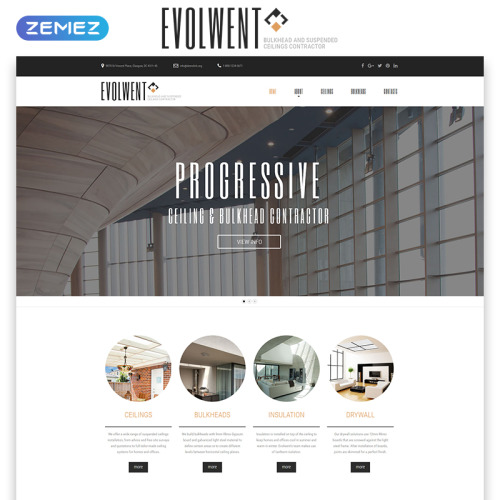 Evolwent - Responsive Website Template