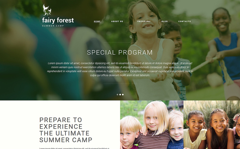 Fairy Forest Joomla Template