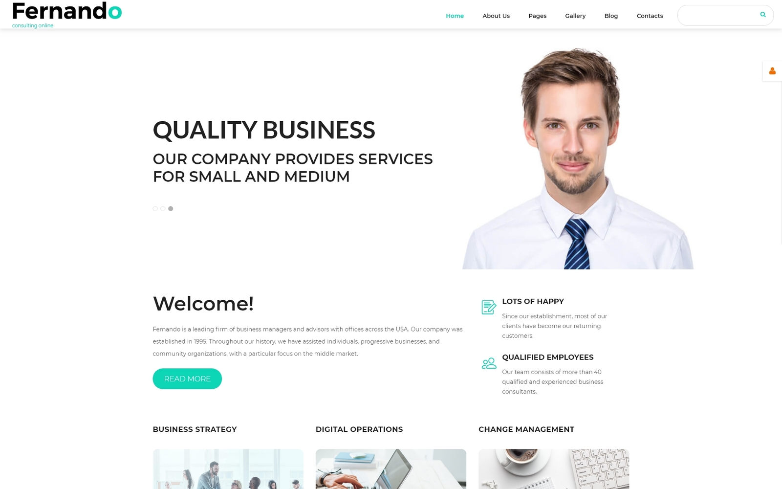 """Fernando - Consulting Ready-to-Use Modern"" 响应式Joomla模板 #55249"