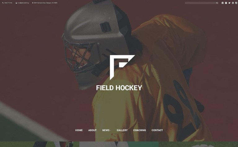 Field Hockey Club Website Template