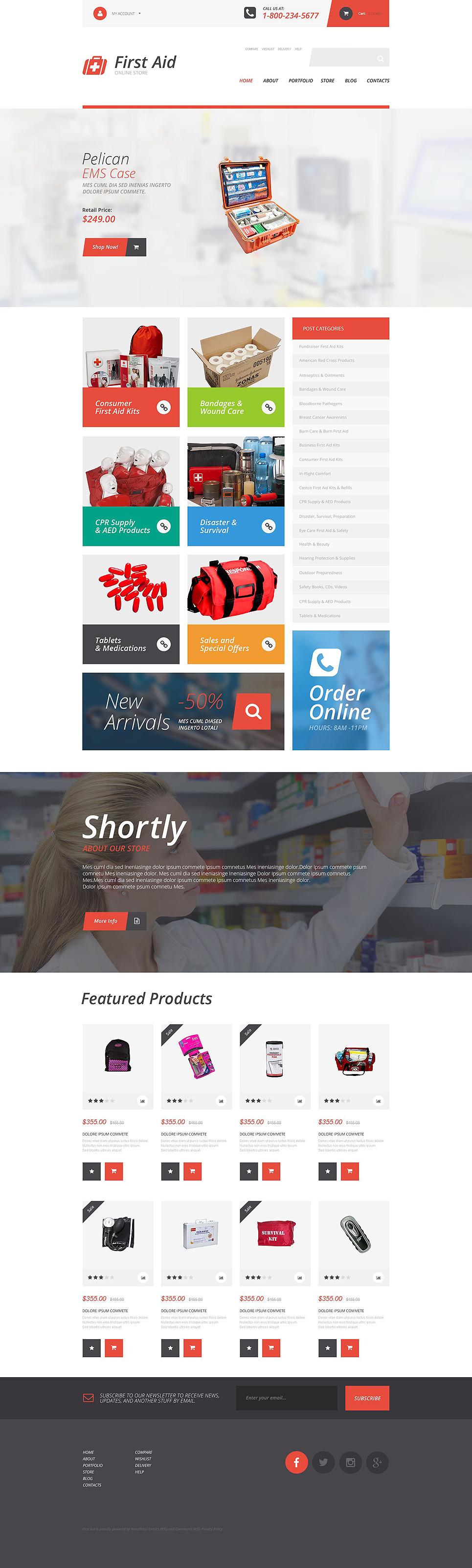First Aid Supplies WooCommerce Theme New Screenshots BIG