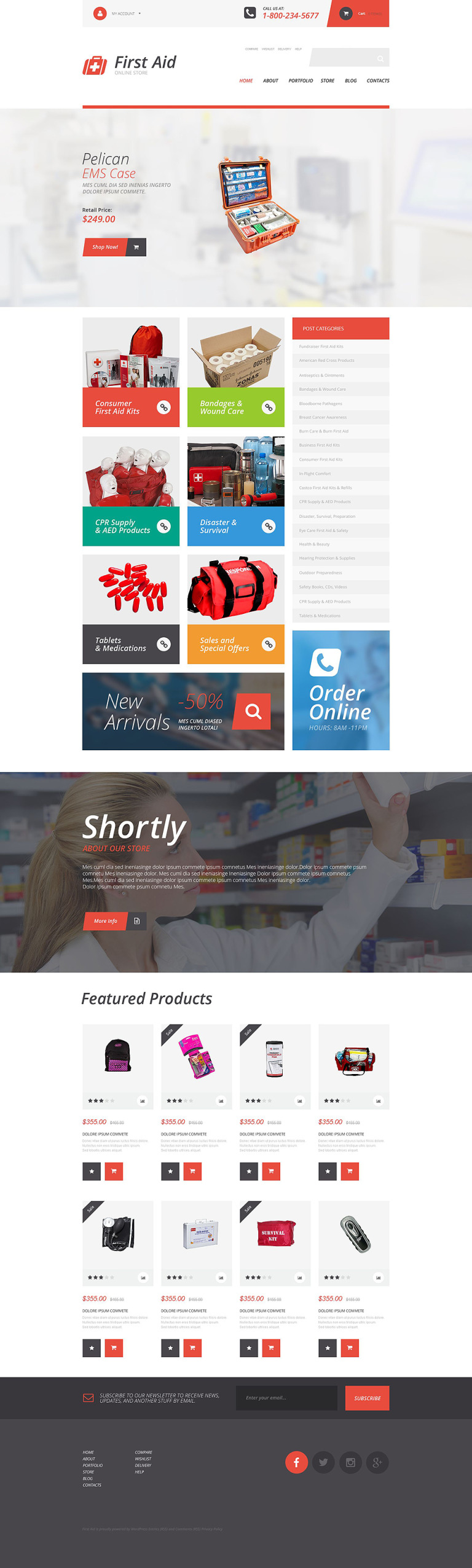 First Aid Supplies WooCommerce Theme New Screenshots BIG