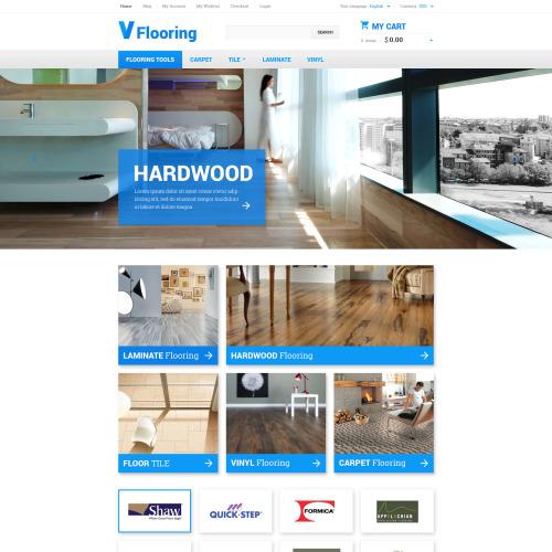 V Flooring - Magento Template based on Bootstrap