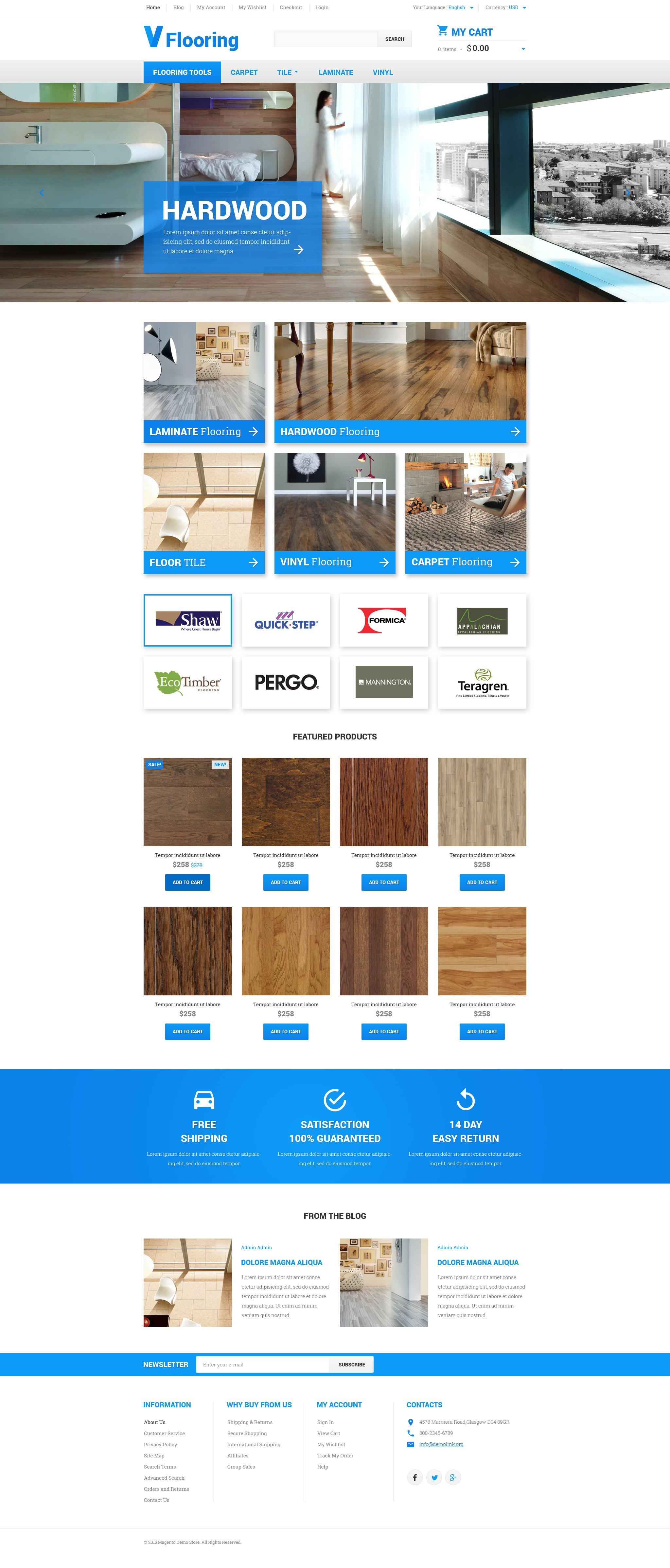 """""""Flooring"""" Responsive Magento Thema №55267 - screenshot"""