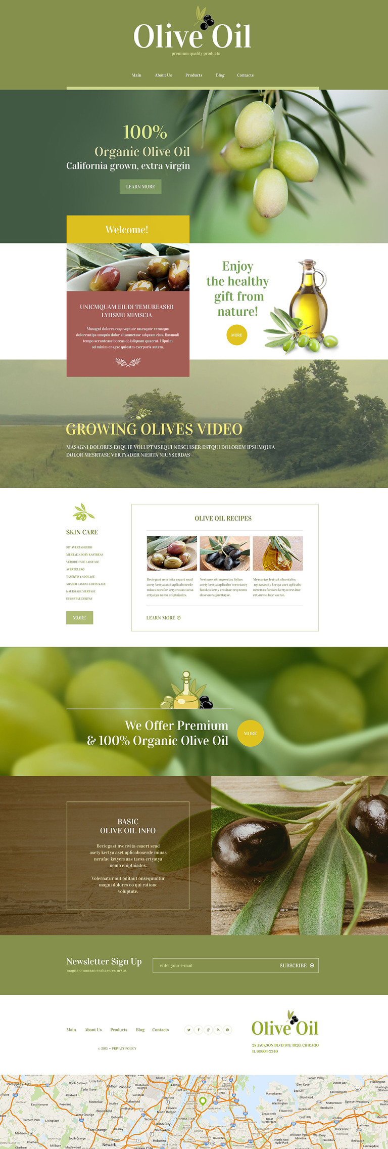 Food Store WordPress Theme New Screenshots BIG