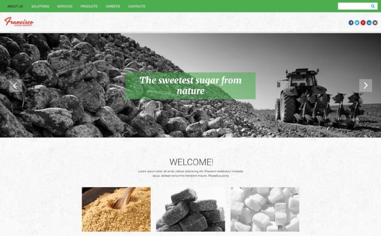 Francisco Sugar Industry Website Template