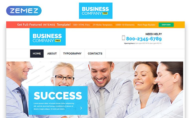 Free business responsive template website template 55227 free business responsive template website template new screenshots big flashek