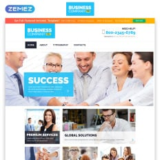 free business responsive template bootstrap website - Free Website Templates