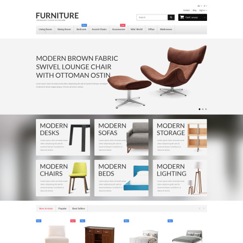 Furniture - PrestaShop Template based on Bootstrap