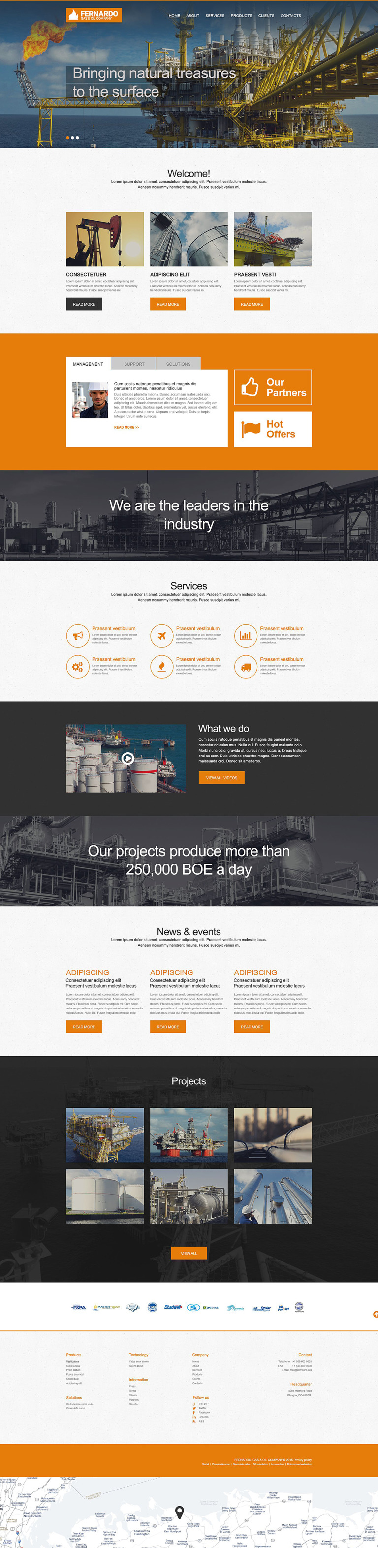 Gas & Oil Muse Template New Screenshots BIG