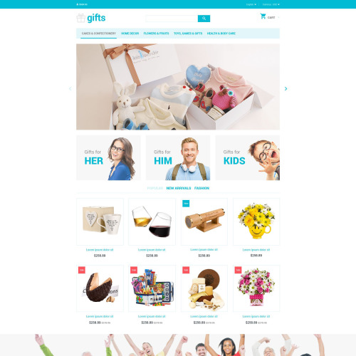 Gifts - PrestaShop Template based on Bootstrap